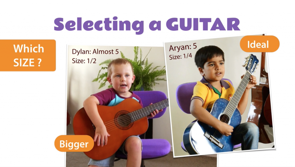 how to choose a guitar for a child gentle guitar music school for kids adult beginners. Black Bedroom Furniture Sets. Home Design Ideas
